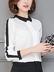Women's Fashion Work Casual/Daily  Chiffon Long Sleeve Shirt