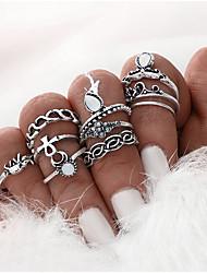 Ringe Besondere Anlässe Alltag Normal Schmuck Aleación Mittelfingerring 1 Set,Eine Größe Silber