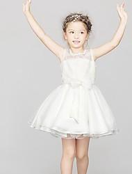 Girl's Beach Solid Dress,Polyester Summer Sleeveless