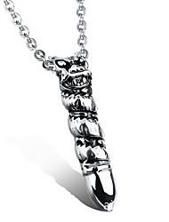 Men's Pendants Titanium Steel Geometric Basic Fashion Silver Jewelry Daily Casual 1pc