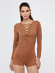 Mid Rise Going out Casual/Daily Rompers,Sexy Skinny Rivet All Seasons