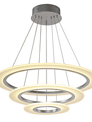 Modern Acrylic Simplicity LED Pendant Lights 70/50/30 Three Rings indoor light for officeLiving Room Bedroom Restaurant