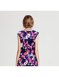 2017 Frühjahr neue europäische Bein der weiblichen Kleid-Gezeiten Frauen&# 39; s Außenhandel letzte Single Schnitt Standard Sommer