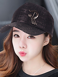 Women 's Sequin Chain Hardware Icon Letters Printing Dark Lady Couple Outdoor Travel Shade Baseball Cap