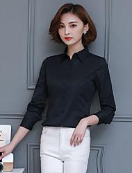 Знак 2017 весна ol карьера с длинными рукавами хлопок рубашка белая рубашка блузки тонкий нижняя рубашка