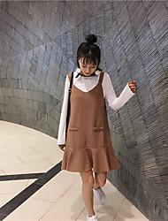 новая весна тонких ремешков рыбьего хвост юбки слова с длинными рукавами свитера платья подтяжка части установлены твердыми