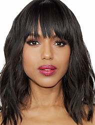8A Natural Wavy Short Human Hair Bob Wigs With Bangs Virgin Brazilian Lace Front Wigs 150% Density 12Inch Glueless Bob Lace Front Wigs Cheap