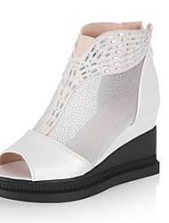 Sandali-Matrimonio Formale Casual-Comoda Innovativo Club Shoes-Zeppa-Lustrini-Nero Rosa Bianco Dorato