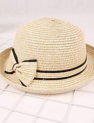 Bow Sunscreen Travel Baseball Cap Sun Hat Ladies Dome Straw