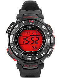 JUBAOLI Спортивные часы электронные часы Кварцевый Цифровой Pезина Группа Черный