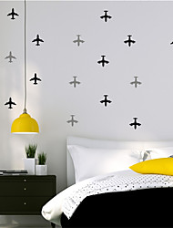 AYA DIY 32 Letter Planes Wall Stickers Wall Decals For Decoration Home Art Stickers 42*84cm
