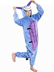 kigurumi Pyjamas Âne Collant/Combinaison Fête / Célébration Pyjamas Animale Halloween Bleu Motif Animal Costumes de Cosplay Kigurumi Pour
