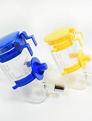 Gato Perro Cuencos y Botellas de Agua Mascotas Cuencos y Alimentación Portátil Azul Amarillo Plástico