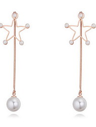 Stud Earrings Pearl Pearl Alloy Natural Fashion Jewelry Gold Silver Rose Gold Jewelry Daily 1 pair