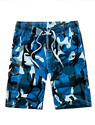 Hommes Grandes Tailles Ample Joggings Short Pantalon,simple Bohème Actif Décontracté / Quotidien Plage Sportif Camouflage MosaïqueTaille