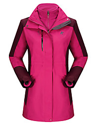 Trilha Blusas Mulheres Mantenha Quente / A Prova de Vento / Isolado / Confortável / Grossa Outono Poliéster Rosa / Roxo / Verde MilitarL