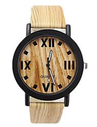 Unisex Fashion Watch Quartz Leather Band Brown