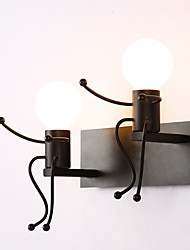 Robot shape Vintage Metal Industrial Loft Rustic Wall Sconce Bar Cafe  Entry Hallway Wall Lamp Black White Optional
