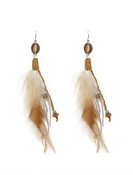 Bohemia Women Acrylic Feather Drop Earrings