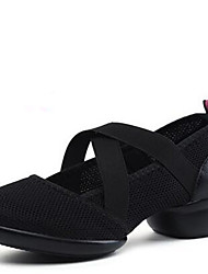Modern Women's Dance Shoes Sneakers Breathable Synthetic Low Heel Black/Red
