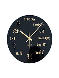 Modern Fashion Mathematical Equation Mute Wall Clock