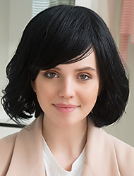 Attractive Beautiful Fashion Woman Human Hair Wig