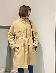 nouveau printemps korean longues sections veste coupe-vent cordon