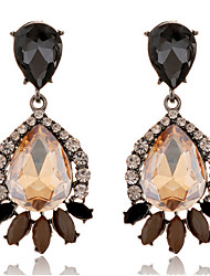 Dangle Earrings AAA Cubic Zirconia Simulated Diamond Alloy Drop Coffee Jewelry Daily 1 pair