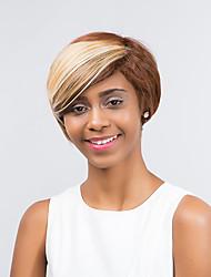 привлекательный эфирный комфортно смешанный цвет короткие волосы синтетический парик