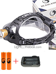 U'King® ZQ-X839GO#2-US 2* CREE XPE Natural/ UV Purple 4Mode Zoomable Multifunction Headlamp Bicycle Light Kit