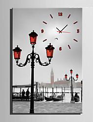 Модерн Прочее Настенные часы,Прямоугольный Холст35 x 50cm(14inchx20inch)x1pcs/ 40 x 60cm(16inchx24inch)x1pcs/ 50 x