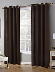 One Panel Curtain Modern Solid Living Room Linen/Polyester Blend Curtains Drapes Home Decoration For Window