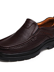 Loafers & Slip-Ons Spring Summer Fall Winter Comfort Nappa Leather Outdoor Office & Career Athletic Casual Work & Safety Black Brown