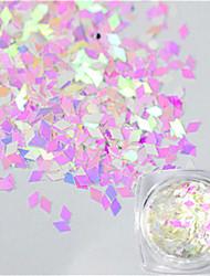 1 Bottle New Nail Art Glitter Shiny Pink Rhombus Paillette Beautiful Clear Nail Art Decoration LQ3