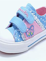 Para Niña-Tacón Plano-Confort Zapatos de niña de las flores-Zapatillas de deporte-Exterior Informal-Tela-Azul Rojo