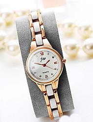 Mulheres Relógio de Moda Quartzo Lega Banda Legal Casual Dourada