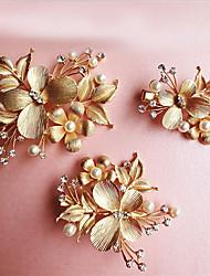 Alliage Casque-Mariage Occasion spéciale Fleurs 3 Pièces