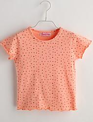 Baby T-Shirt,Lässig/Alltäglich Druck-Baumwolle-Sommer-Orange