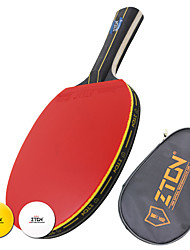Table Tennis Rackets Table Tennis Ball Ping Pang Wood Long Handle Pimples 1 Racket 2 Table Tennis Balls 1 Table Tennis BagPerformance
