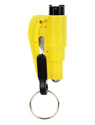 2 - em - 1 chaveiro ferramenta de resgate - amarelo