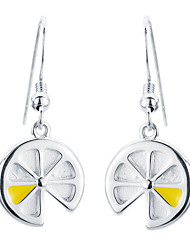 SILVERAGE Sterling Silver Lemon Slices Hook Drop Dangle Earrings