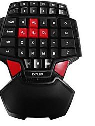 delux t9 une seule main USB filaire clavier de jeu