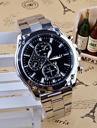 Hombre Reloj de Vestir Reloj de Moda Cuarzo Acero Inoxidable Banda Encanto Casual Plata
