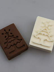 Christmas Tree Shape DIY Handmade Soap Chapter Seals Tool Design