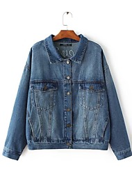 2017 spring new European and American fashion personality to do the old Flamingo embroidery washed denim jacket female loose