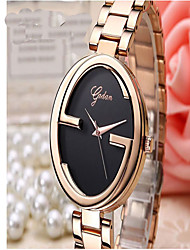 Men's Fashion Watch Quartz Alloy Rose Gold Plated Band Casual Black Rose Gold
