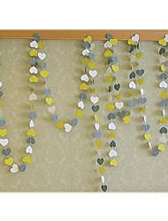 raylinedo® 1 pièce de 4 mètres gris jaune et papier blanc guirlande pour la forme fête d'anniversaire d'anniversaire de mariage décoration
