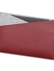 For Apple MacBook 12 Inch Air 11.6 Sleeves Laptop Bag PU Leather with Felt Simple Leisure Style Notebook Bag Solid Color