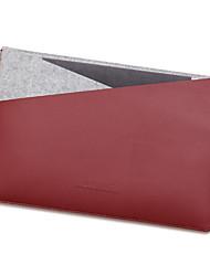 pour Apple MacBook 12 pouces air 11.6 manches sac d'ordinateur portable en cuir PU avec feutre simple sac d'ordinateur portable de style