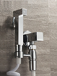 Bidet Faucets  ,  Contemporary  with  Chrome Single Handle One Hole  ,  Feature  for Wall Mount Pull out